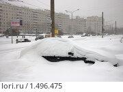 Купить «Занесенный снегом автомобиль», фото № 1496475, снято 22 февраля 2010 г. (c) Артем Ефимов / Фотобанк Лори