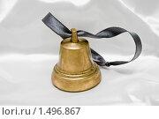 Купить «Колокольчик на белом атласе», фото № 1496867, снято 14 августа 2009 г. (c) Кекяляйнен Андрей / Фотобанк Лори