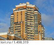 Купить «Шестиподъездный монолитный жилой дом переменной этажности от 7 до 25 этажей. Улица Лавочкина, 34. Москва», эксклюзивное фото № 1498319, снято 17 февраля 2010 г. (c) lana1501 / Фотобанк Лори