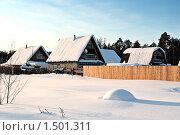 Купить «Дачный поселок зимой. Тюменская область.», фото № 1501311, снято 22 февраля 2010 г. (c) Алексей Рогожа / Фотобанк Лори