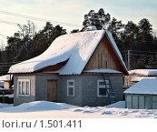 Купить «Дачный домик зимой. Тюменская область.», фото № 1501411, снято 22 февраля 2010 г. (c) Алексей Рогожа / Фотобанк Лори