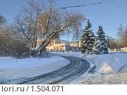 Купить «Трамвайный круг в Останкино. Фрагмент», эксклюзивное фото № 1504071, снято 12 января 2010 г. (c) Алёшина Оксана / Фотобанк Лори