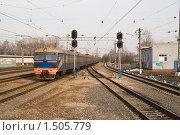 Купить «Железная дорога», фото № 1505779, снято 11 апреля 2009 г. (c) Максим Лоскутников / Фотобанк Лори