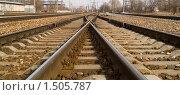 Купить «Железная дорога», фото № 1505787, снято 11 апреля 2009 г. (c) Максим Лоскутников / Фотобанк Лори