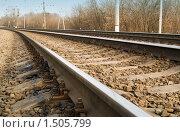 Купить «Рельсы», фото № 1505799, снято 11 апреля 2009 г. (c) Максим Лоскутников / Фотобанк Лори