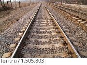 Купить «Рельсы», фото № 1505803, снято 11 апреля 2009 г. (c) Максим Лоскутников / Фотобанк Лори