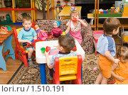 Купить «Дети играют в детском саду», фото № 1510191, снято 25 февраля 2010 г. (c) Типляшина Евгения / Фотобанк Лори