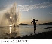 Купить «Вечерний павлодарский пляж», фото № 1510371, снято 1 августа 2009 г. (c) Владимир Абакумов / Фотобанк Лори