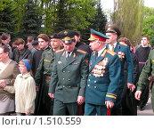 Купить «Офицеры, офицеры, за Россию и свободу до конца», фото № 1510559, снято 9 мая 2005 г. (c) Александр Леденев / Фотобанк Лори