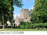 Сигтуна, развалины церкви  St.Olof, 12 век. Швеция (2009 год). Стоковое фото, фотограф Татьяна Савватеева / Фотобанк Лори