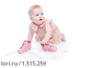 Купить «Маленькая девочка в розовом платье», фото № 1515259, снято 27 февраля 2010 г. (c) Иванова Виктория / Фотобанк Лори