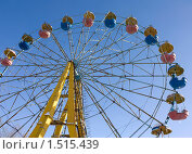 Старое колесо обозрения в парке г.Караганды, Казахстан (2010 год). Стоковое фото, фотограф Олыкайнен Наталья / Фотобанк Лори