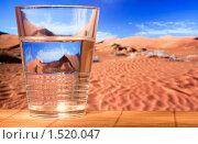 Купить «Стакан воды в пустыне», фото № 1520047, снято 1 марта 2010 г. (c) Ирина Смолина / Фотобанк Лори