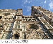 Собор Санта-Мария-дель-Фьоре во Флоренции. Фрагмент фасада. (2007 год). Стоковое фото, фотограф Александр Справников / Фотобанк Лори
