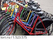Купить «Разноцветные велосипеды», фото № 1523575, снято 23 сентября 2006 г. (c) Vadim Tatarnitsev / Фотобанк Лори