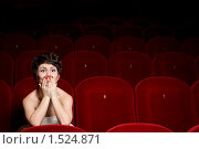 Девушка в кино. Стоковое фото, фотограф Калинина Алиса / Фотобанк Лори