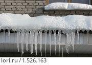 Купить «Бахрома из сосулек», фото № 1526163, снято 17 февраля 2010 г. (c) Заноза-Ру / Фотобанк Лори