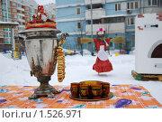 Самовар. Масленица. Стоковое фото, фотограф Куликова Вероника / Фотобанк Лори