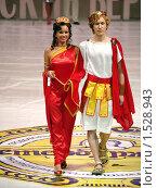 Купить «Пара моделей в римских костюмах», фото № 1528943, снято 21 февраля 2010 г. (c) Александр Кузовлев / Фотобанк Лори
