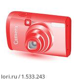 Купить «Красный фотоаппарат», иллюстрация № 1533243 (c) Наталия Каупонен / Фотобанк Лори