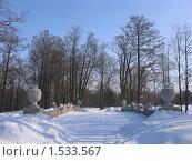 Купить «Зимний парк Александрия», фото № 1533567, снято 7 марта 2010 г. (c) Валентина Троль / Фотобанк Лори