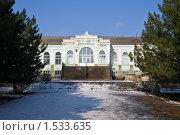 Купить «Здание железнодорожного вокзала в городе Красный Сулин», фото № 1533635, снято 22 февраля 2010 г. (c) Борис Панасюк / Фотобанк Лори