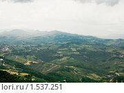 Купить «Сан-Марино с высоты птичьего полета», фото № 1537251, снято 2 июня 2008 г. (c) Станислав Парамонов / Фотобанк Лори