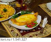 Купить «Хачапури по-аджарски», фото № 1541327, снято 19 октября 2009 г. (c) Алексей Пантелеев / Фотобанк Лори