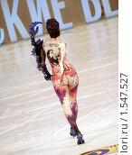 Купить «Модель вид сзади на подиуме, боди-арт», фото № 1547527, снято 9 апреля 2020 г. (c) Александр Кузовлев / Фотобанк Лори