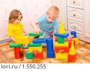 Купить «Дети в детской комнате», фото № 1550255, снято 14 марта 2010 г. (c) Типляшина Евгения / Фотобанк Лори