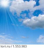 Купить «Голубое небо и солнечный свет», фото № 1553983, снято 31 июля 2009 г. (c) ElenArt / Фотобанк Лори