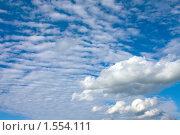 Купить «Облака. Небо  в летний день», фото № 1554111, снято 31 июля 2009 г. (c) ElenArt / Фотобанк Лори
