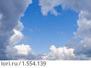 Купить «Облака. Небо  в летний день», фото № 1554139, снято 31 июля 2009 г. (c) ElenArt / Фотобанк Лори