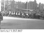 """Купить «Школьная линейка, с. """"Золотое Поле"""", Крым, 1983 г», фото № 1557807, снято 3 апреля 2020 г. (c) Александр  Буторин / Фотобанк Лори"""