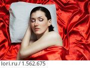 Купить «Девушка спит», фото № 1562675, снято 15 марта 2010 г. (c) Константин Юганов / Фотобанк Лори