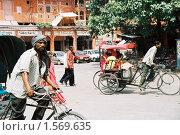 Купить «Велорикша в Джайпуре», эксклюзивное фото № 1569635, снято 10 апреля 2020 г. (c) Free Wind / Фотобанк Лори
