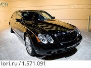 Купить «Черный автомобиль представительского класса Maybach 62S», фото № 1571091, снято 31 августа 2008 г. (c) Александр Косарев / Фотобанк Лори