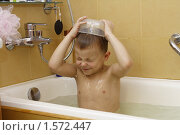 Купить «Ребёнок купается в ванной», эксклюзивное фото № 1572447, снято 20 марта 2010 г. (c) Дмитрий Неумоин / Фотобанк Лори