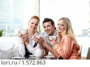 Купить «Счастливые друзья», фото № 1572863, снято 23 февраля 2010 г. (c) Raev Denis / Фотобанк Лори