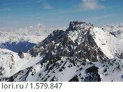 Вид на вершину. Марибель, Meribel. Стоковое фото, фотограф Семин Илья / Фотобанк Лори