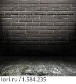 Серая кирпичная стена. Стоковое фото, фотограф Stanislav Kharchevskyi / Фотобанк Лори
