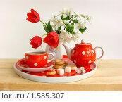 Купить «Весеннее чаепитие (натюрморт)», фото № 1585307, снято 13 мая 2009 г. (c) Елена Завитаева / Фотобанк Лори