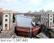 Нижние Мневники - шлюз (2010 год). Стоковое фото, фотограф Александр Маркин / Фотобанк Лори