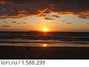Морской закат. Стоковое фото, фотограф Татьяна Ежова / Фотобанк Лори
