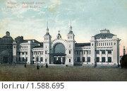 Купить «Брестский вокзал в Москве. Россия», фото № 1588695, снято 2 апреля 2020 г. (c) Юрий Кобзев / Фотобанк Лори
