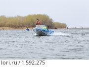Купить «Судейская лодка  на соревнованиях», эксклюзивное фото № 1592275, снято 11 апреля 2009 г. (c) Алёшина Оксана / Фотобанк Лори
