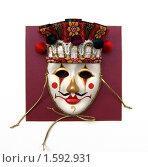Карнавальная маска на белом фоне. Стоковое фото, фотограф Вера Власенко / Фотобанк Лори