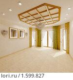 Купить «Интерьер пустой гостиной», иллюстрация № 1599827 (c) Юрий Бельмесов / Фотобанк Лори