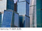 Купить «Небоскребы Москва-сити. Фрагмент», эксклюзивное фото № 1601635, снято 13 марта 2010 г. (c) Алёшина Оксана / Фотобанк Лори