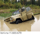 Купить «УАЗ застрял в болоте», фото № 1603679, снято 12 сентября 2006 г. (c) Евгений Ткачёв / Фотобанк Лори